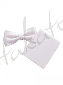"Junior bowtie with pocket square ""TV fold"""