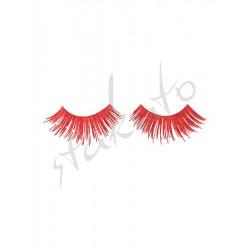 Coloured false eyelashes