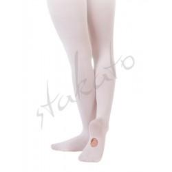 Rajstopy baletowe z dziurką dziecięce T90CH Sansha
