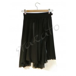 Shorts with chiffon
