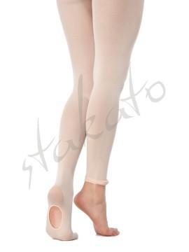Rajstopy baletowe z dziurką młodzieżowe