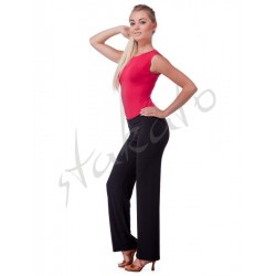 Straight pants for standard dance
