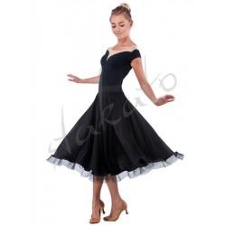 Long skirt for standard with crinoline