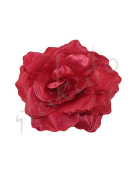 Decorative rose 9cm shiny