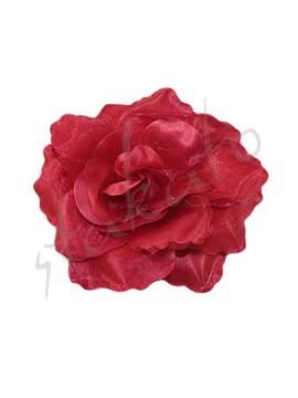 Róża do tango / flamenco 9cm połyskliwa