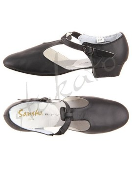 Diva leather character shoes Sansha