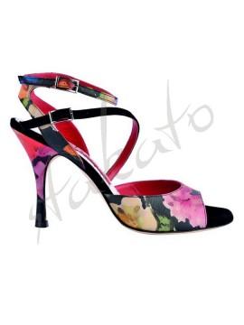 Tangolera style A23 Black Flower