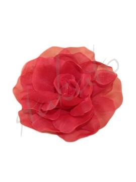 Róża do tango / flamenco 9cm tiulowa