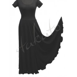 Long skirt for standard with godets