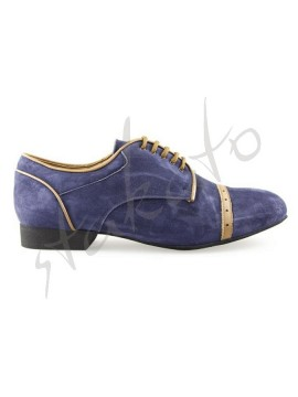 Tangolera model 107 Oxford Deep Blue / Camoscio Blue