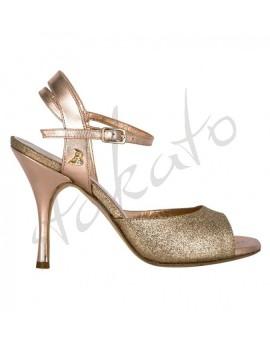 Tangolera style A2 Glitter Rame Laminato Rosa