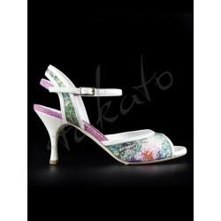 Tangolera style A2 Glittery Flowers