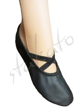 Baletki ze skóry ekologicznej z gumkami
