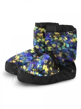 Warm Up Booties BLUEBERRY FLORAL Bloch