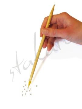 Aplikator dwustronny z woskiem do kryształków no-hotfix