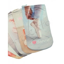 I LOVE DANCE bag for pointe shoes / soft shoes