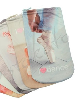 I LOVE DANCE pointe shoe bag
