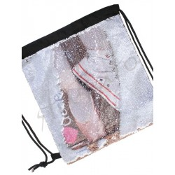 Bag with two-sides sequins