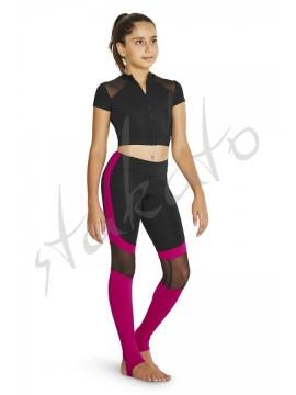 Stirrup legging panelled mesh Kassie Bloch