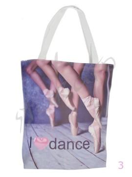 "Torba na ramię z ""uszami"" I LOVE DANCE"