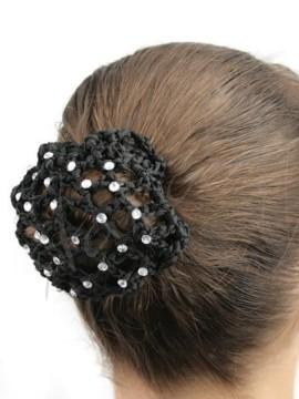 Rhinestone bun cover - hairnet