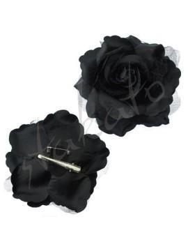 Róża do tango / flamenco z tiulem 12 cm