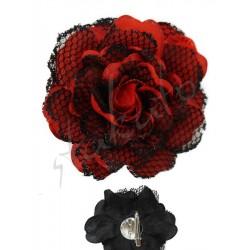 Róża dekoracyjna z koronką