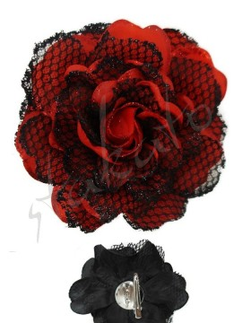Decorative rose 12cm tulle