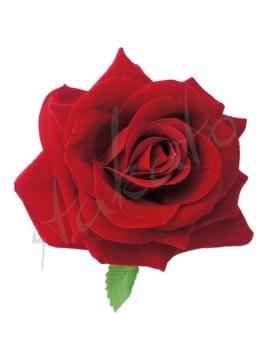 Róża dekoracyjna z listkiem