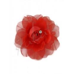Decorative rose with a rhinestone