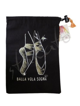 Glittering dance shoe bag