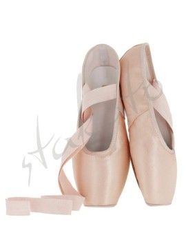 Sewing ribbons on pointe shoes (T)