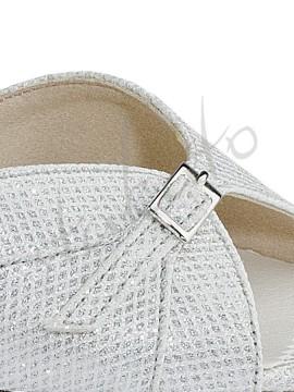 Kozdra model 25C srebrny brokat cekinowy