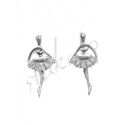 Earrings with dancer Olivia
