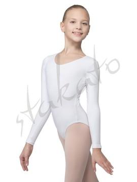 Body dziewczęce bawełniane - długi rękaw D03C Grishko