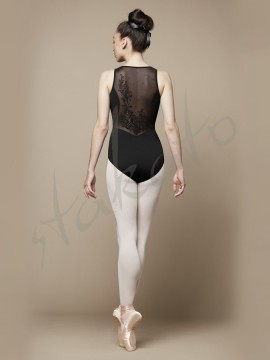 Alya L4895 leotard with flock Bloch