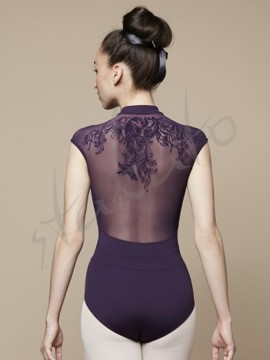 Marlene L9832 leotard with flock Bloch