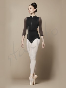 Lune L9909 leotard with flock Bloch