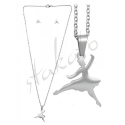 Komplet biżuterii Emile - kolczyki i naszyjnik