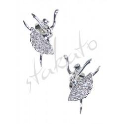 Earrings with ballerina Kara