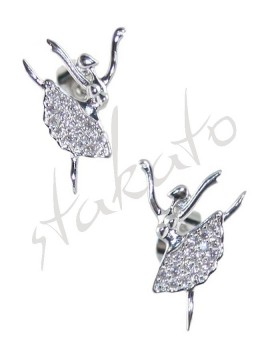 Earrings with ballerina Kara
