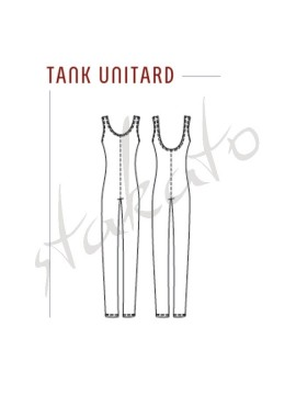 Men tank unitard DS1409M Grishko