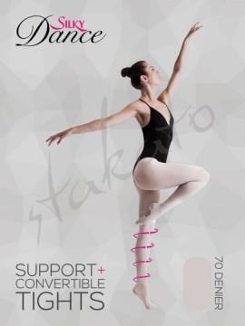 Rajstopy uciskowe z dziurką Support+ Silky Dance