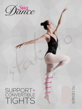 Support+ Convertible Ballet Tights Intermediate Silky Dance
