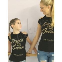 T-shirt Dance Fly Dream z brokatem LD