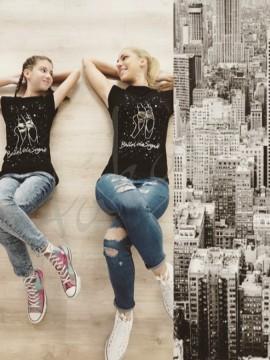 T-shirt Balla Vola Sogna z brokatem LD