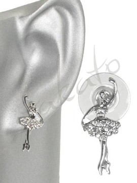 Earrings with ballerina Flora