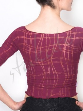 Dance top Anette Bordeaux Lines Juli Garden