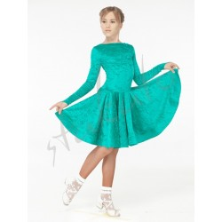 Sukienka turniejowa z włoskiego aksamitu - długi rękaw