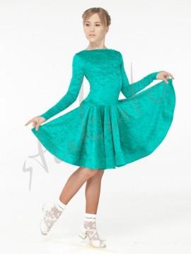 Sukienka turniejowa aksamitna - długi rękaw